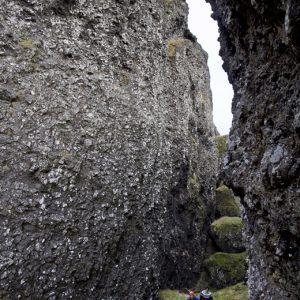 Í Þjófagjá er hátt til lofts.